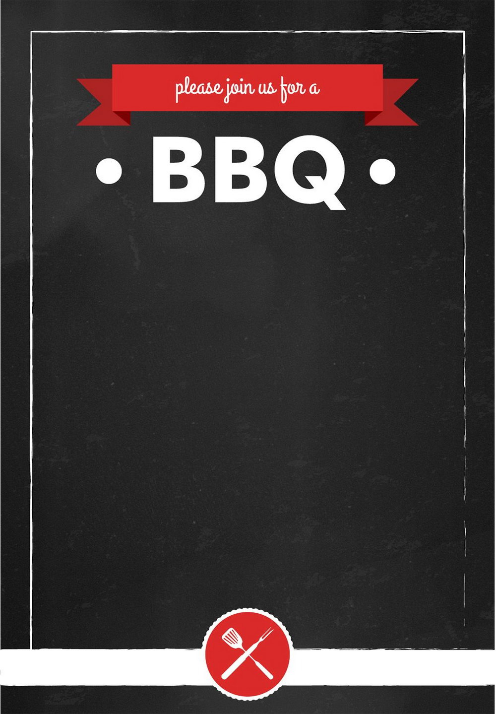 Summer Bbq Invitation Templates