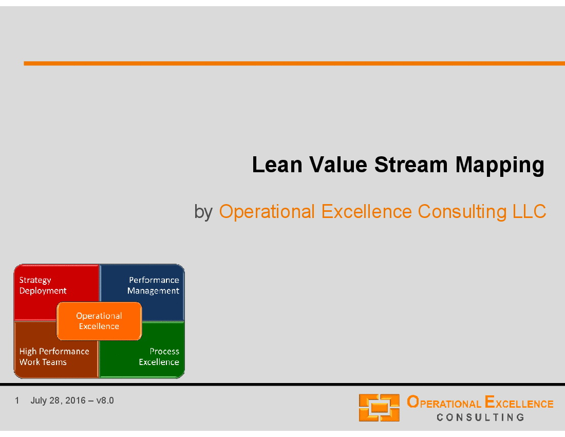 Value Stream Map Template Powerpoint