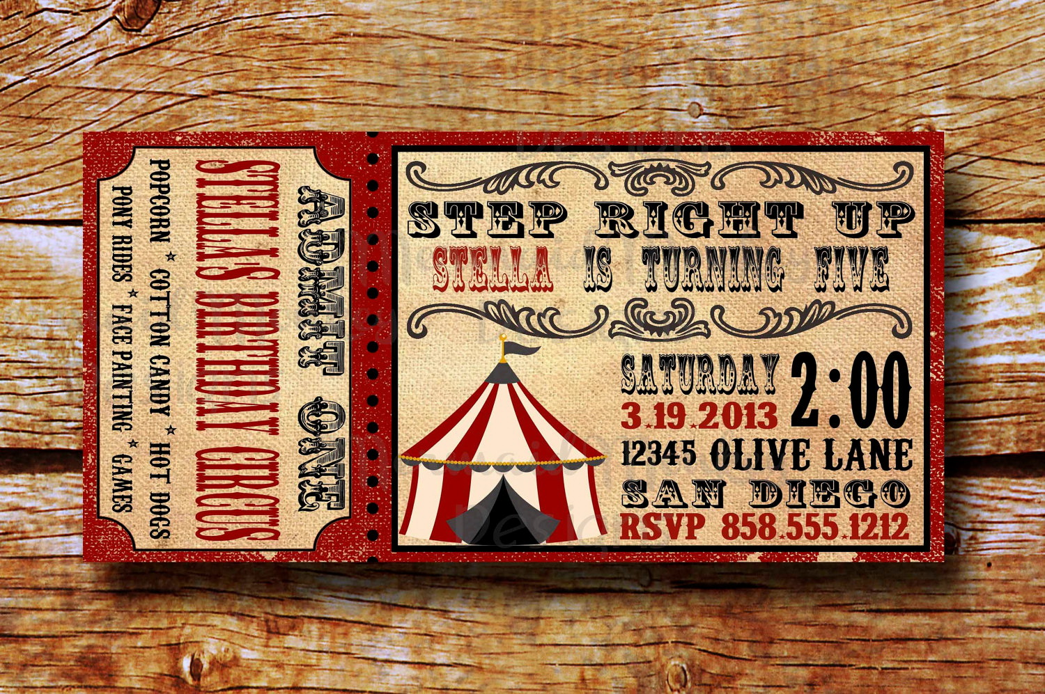 Vintage Carnival Ticket Template