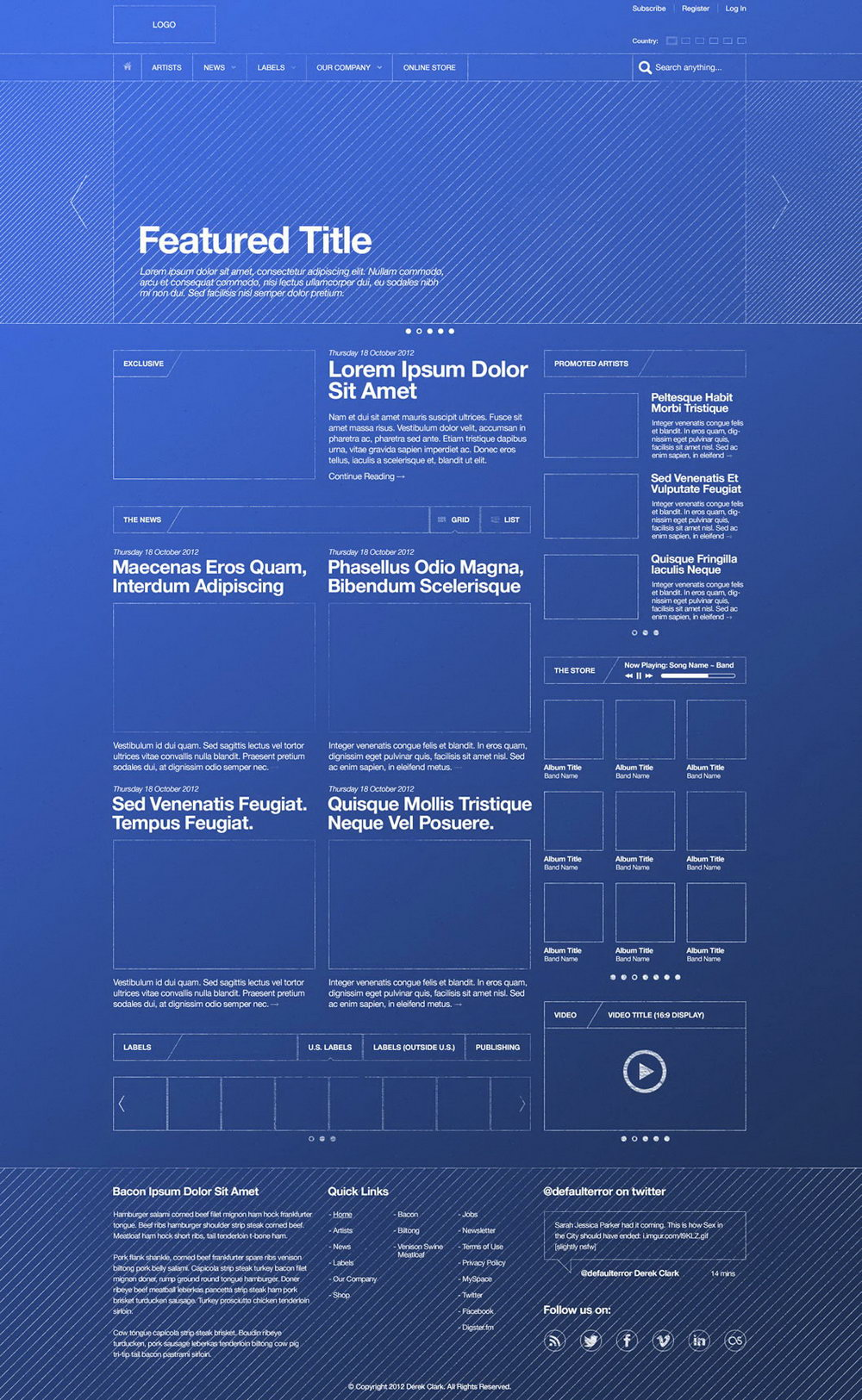 Website Design Wireframe Templates