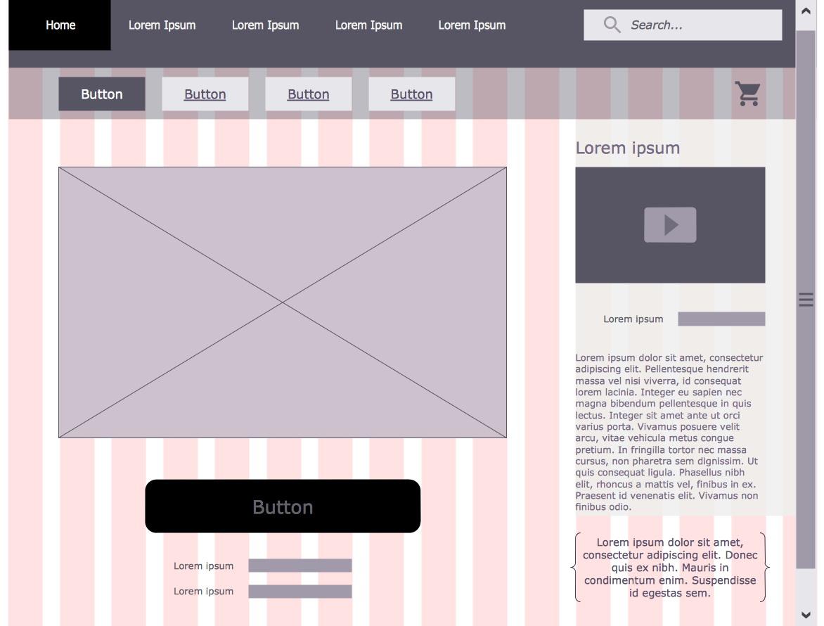 Website Wireframe Template Illustrator