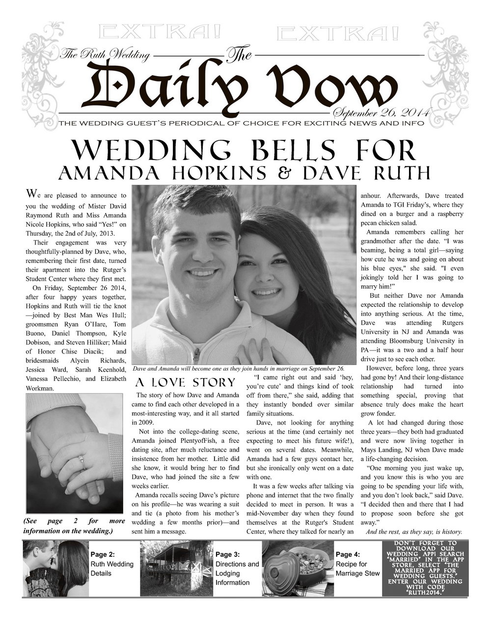 Wedding Announcement Template Newspaper