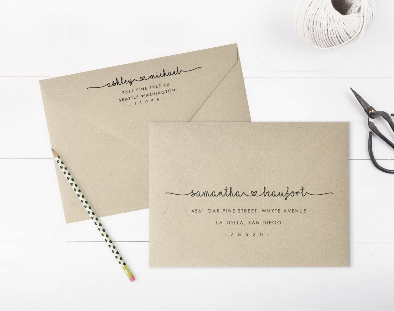Wedding Envelope Printing Template