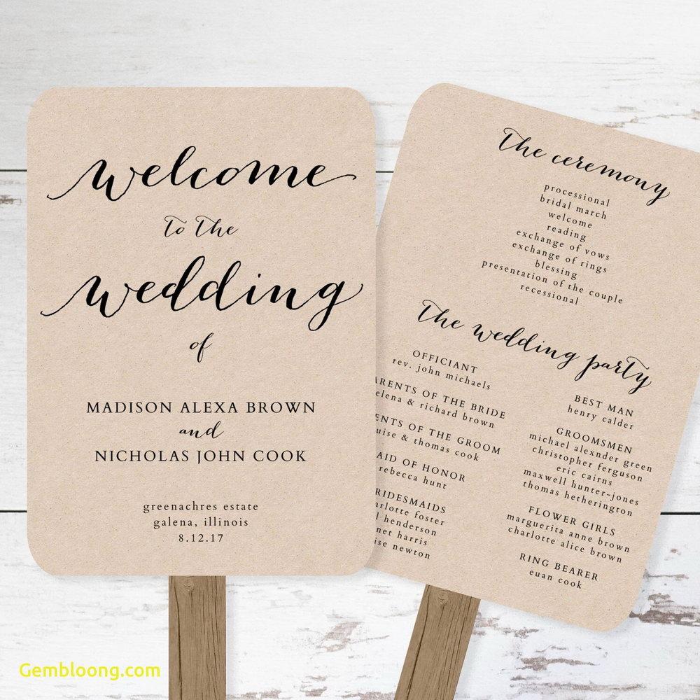 Wedding Fan Program Template Download