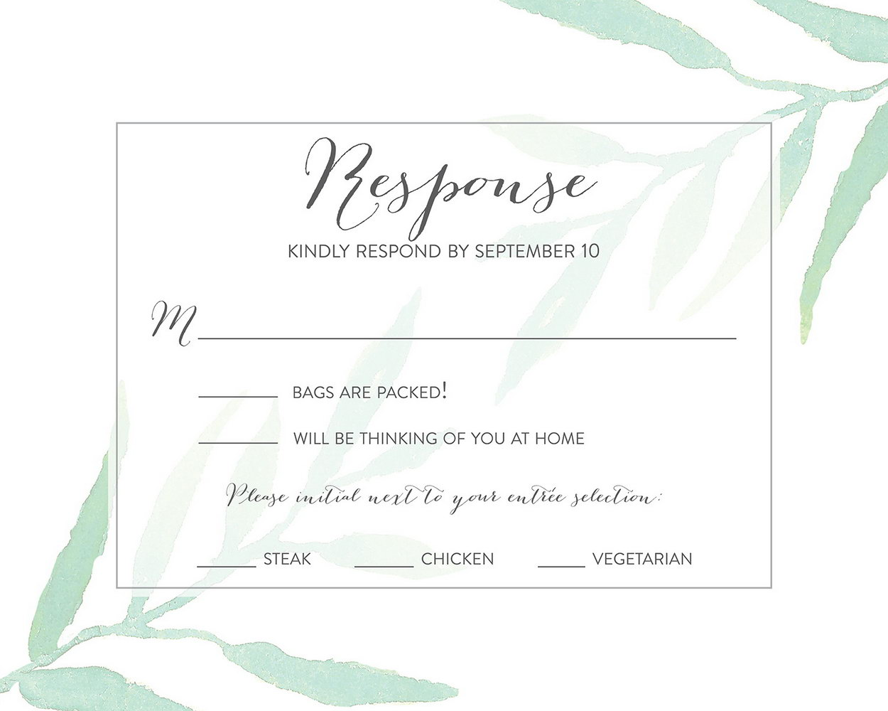 Wedding Rsvp List Template