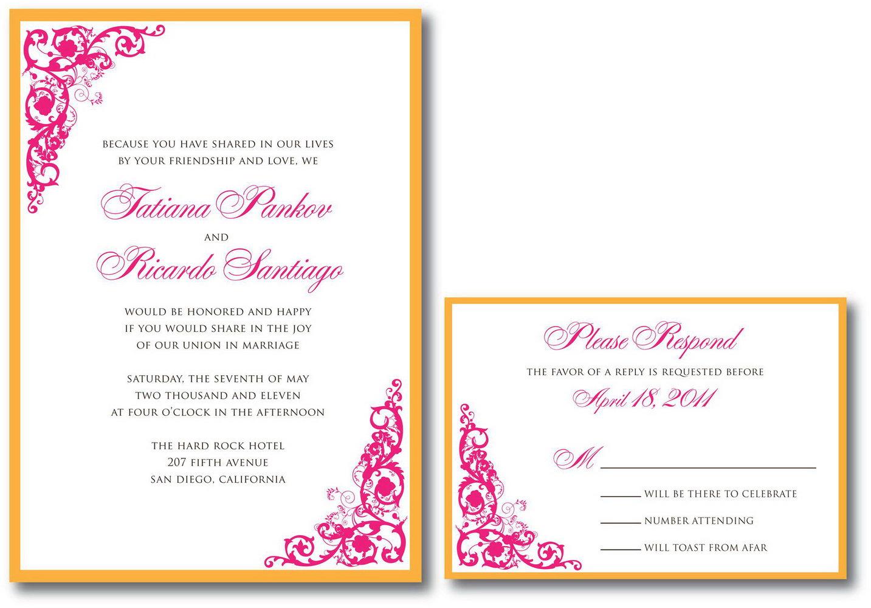 Wedding Rsvp Spreadsheet Template