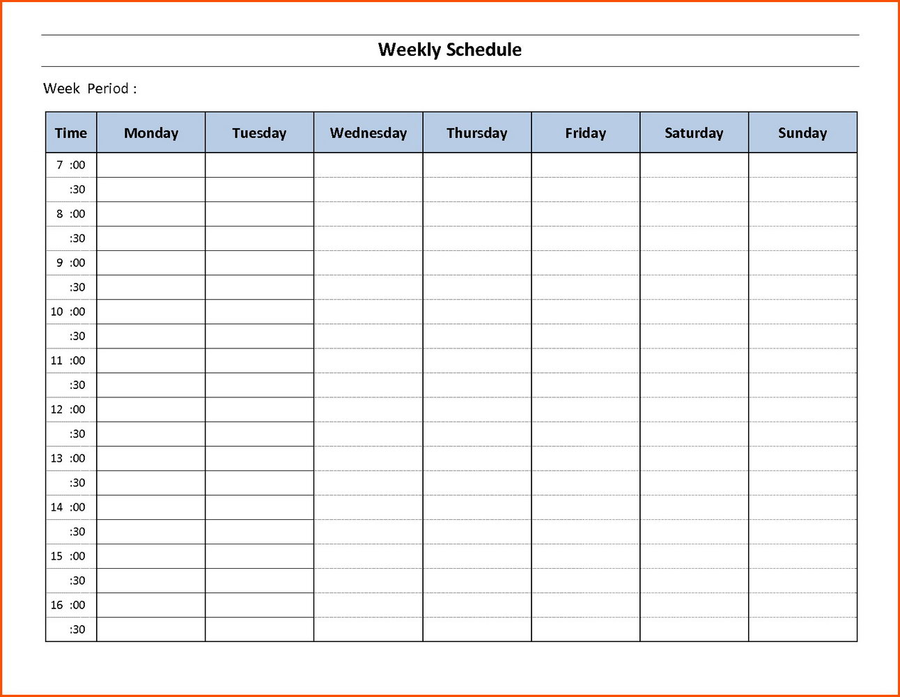 Weekly Employee Schedule Template Free