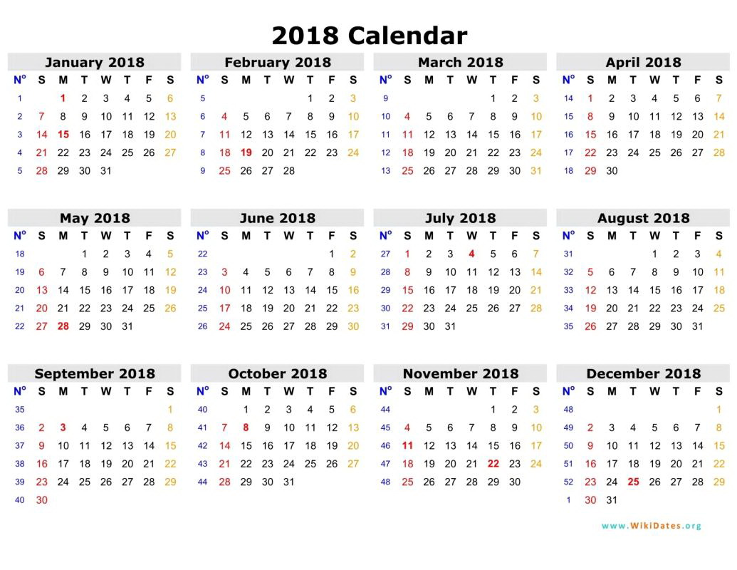 2018 Biweekly Payroll Calendar Template Excel