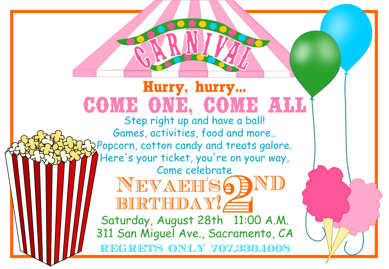2nd Birthday Party Invite Template