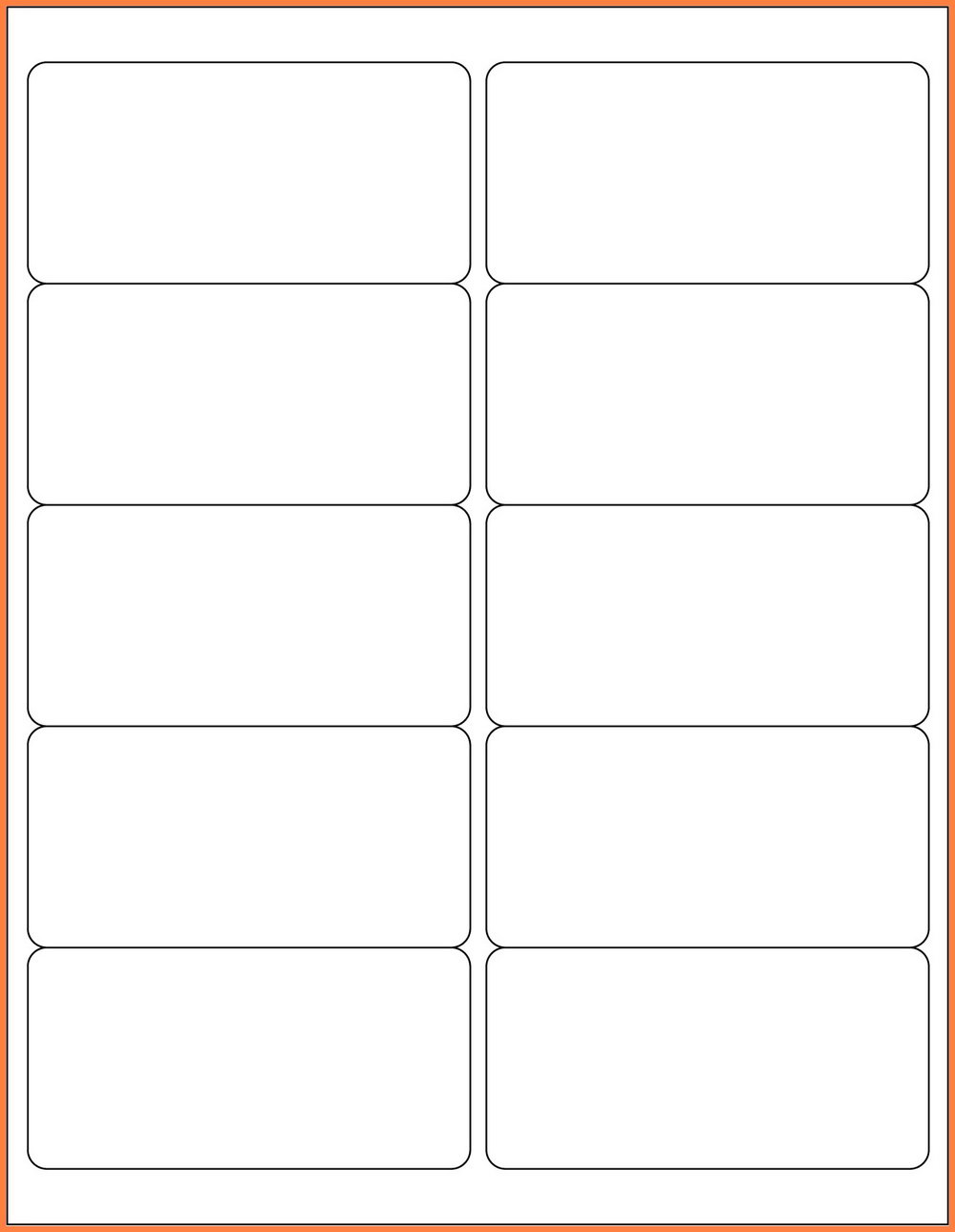 2×4 Label Template