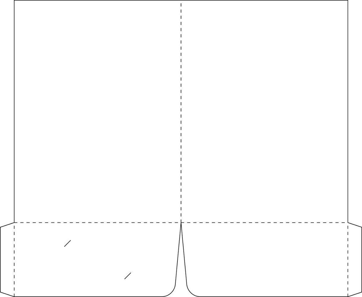 9×12 Presentation Folder Template