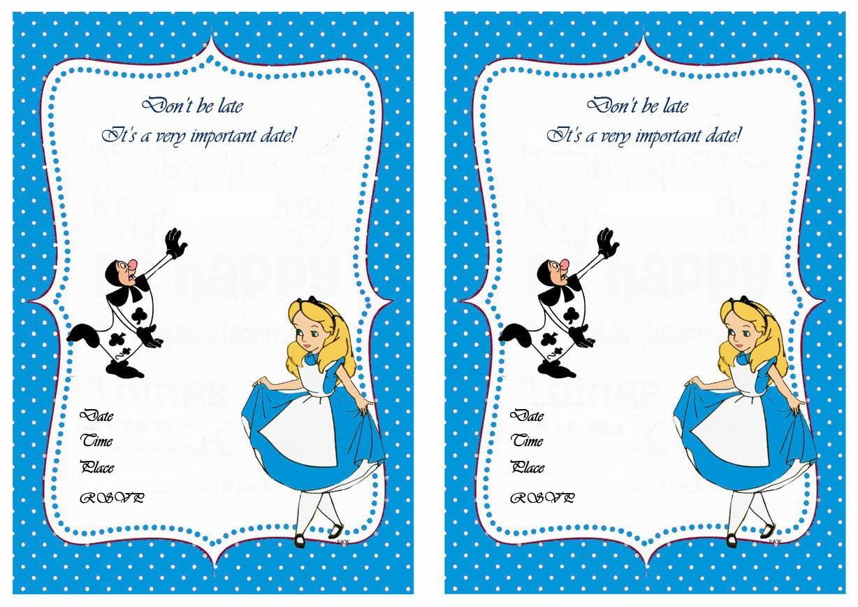 Alice In Wonderland Invitation Template
