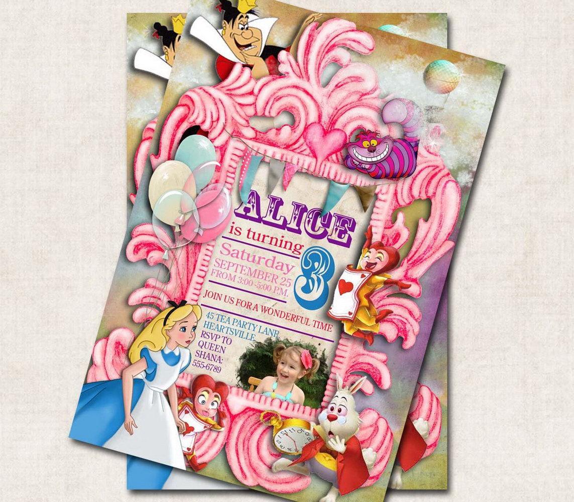Alice In Wonderland Party Invitation Template