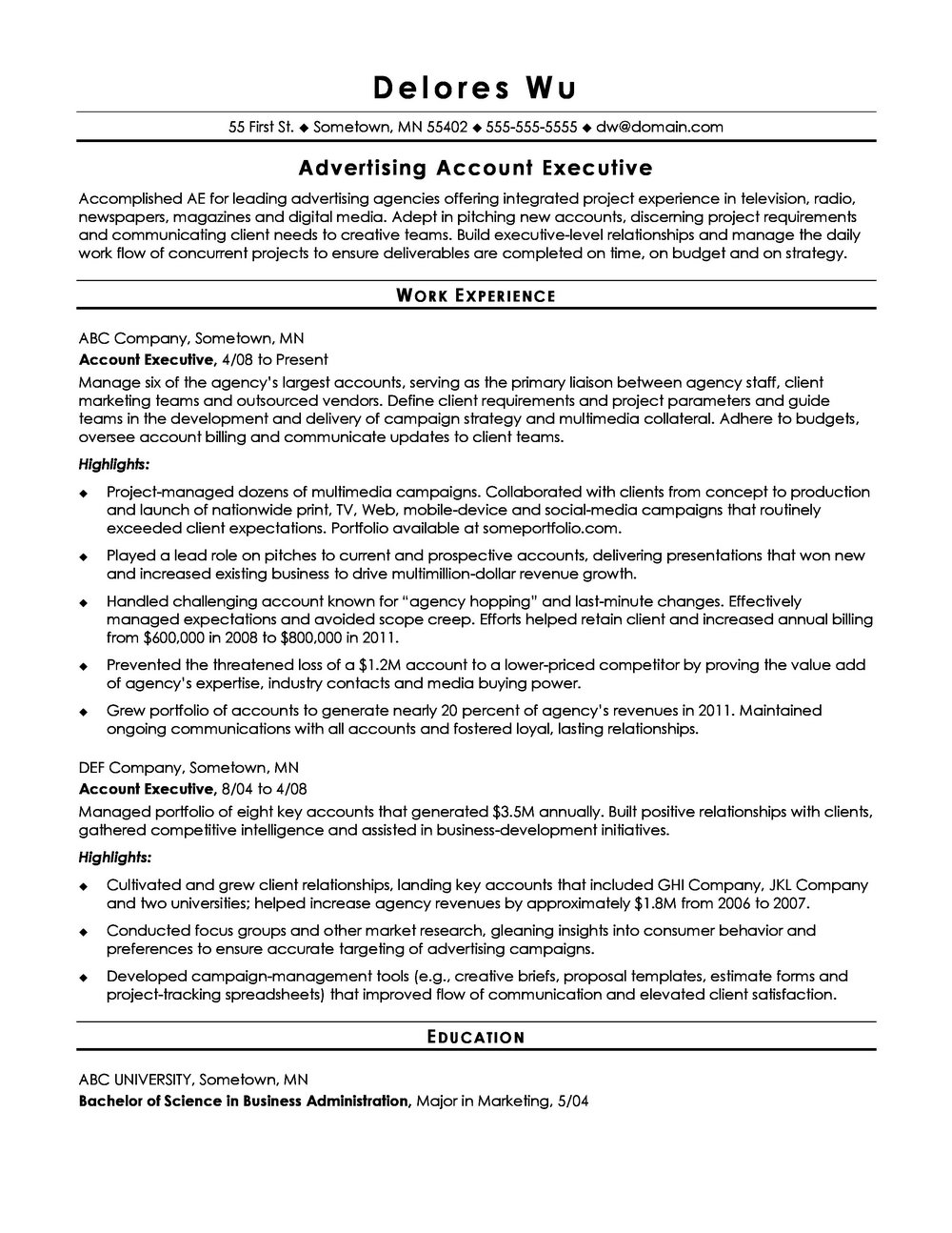 Ats Resume Template Word