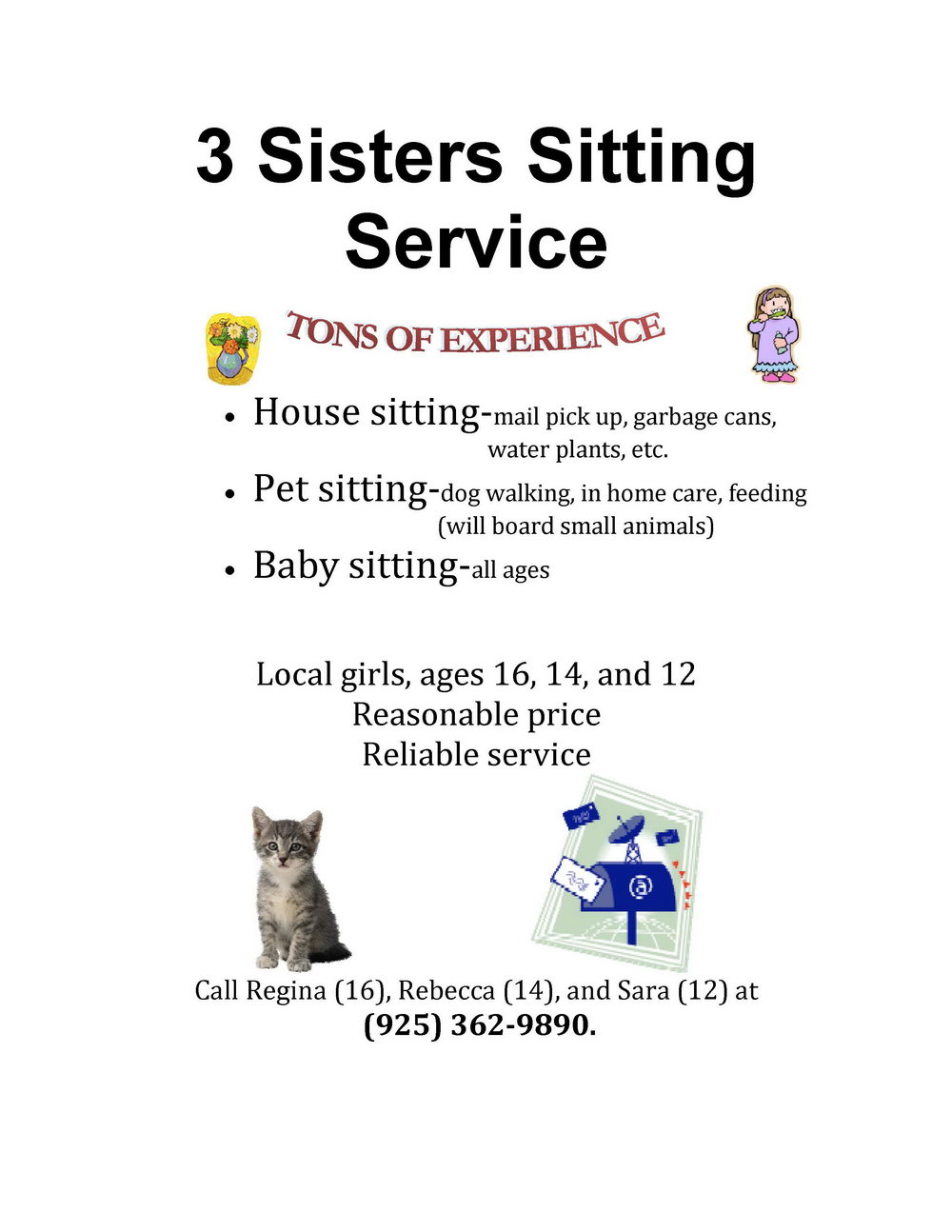 Babysitting Flyer Template Microsoft Word Free