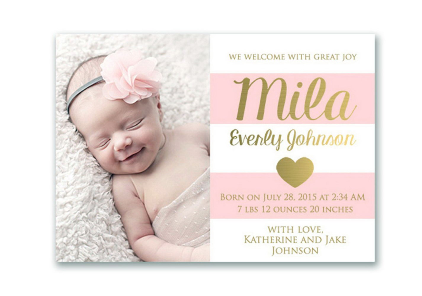 Birth Announcement Email Template Free