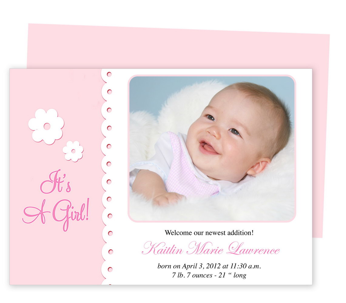 Birth Announcement Template Free