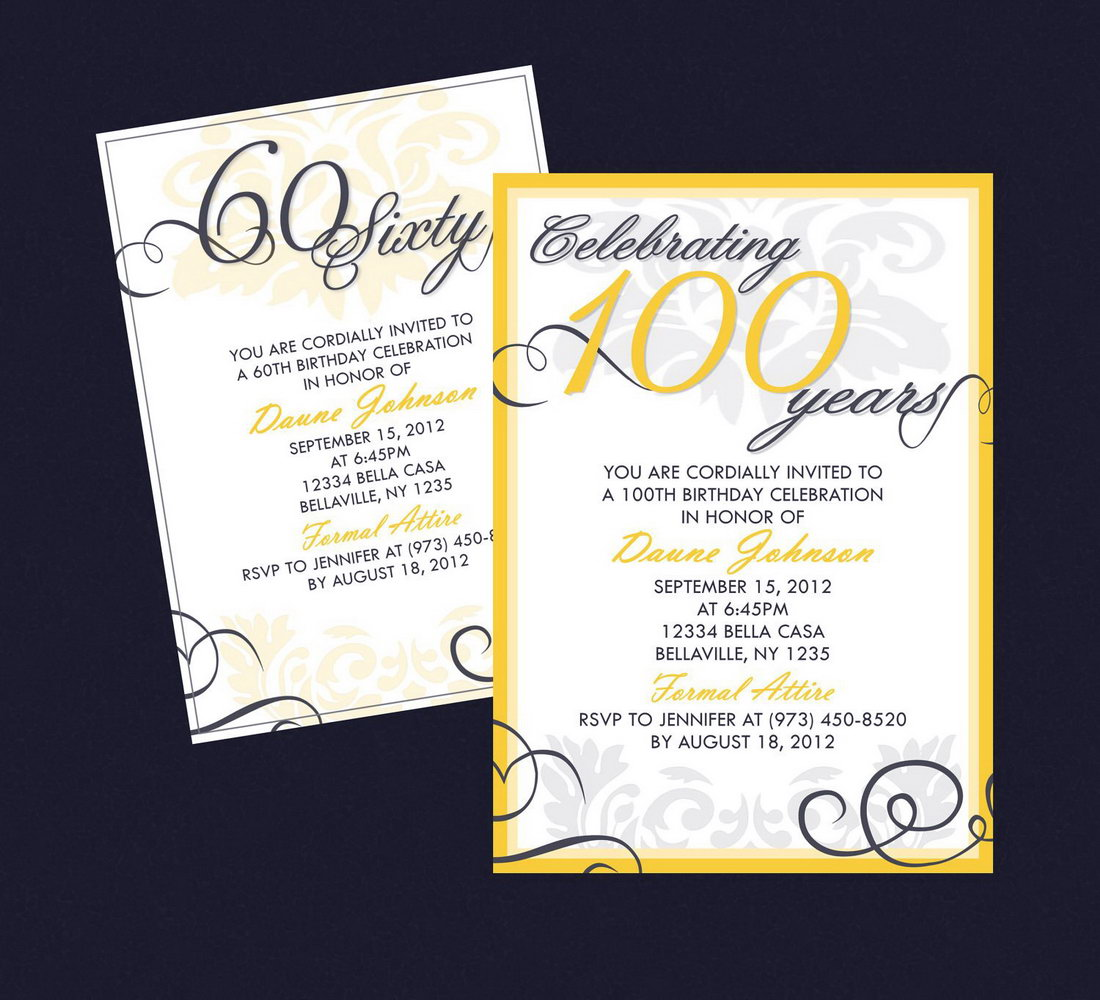 Birthday Party Invitations Templates For Adults