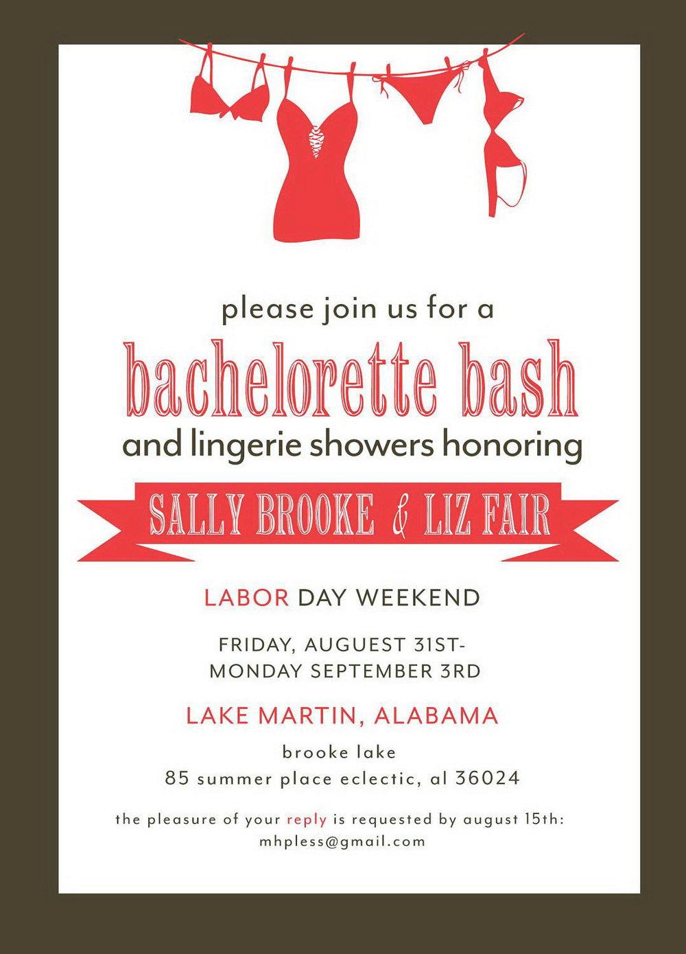 Blank Bachelorette Invitation Template