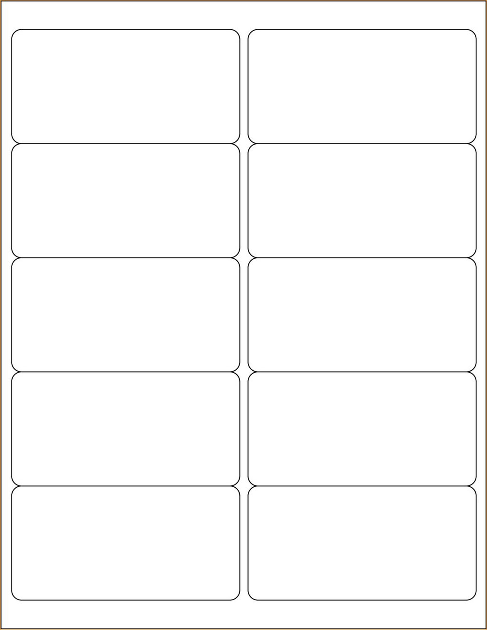Blank Label Templates For Word