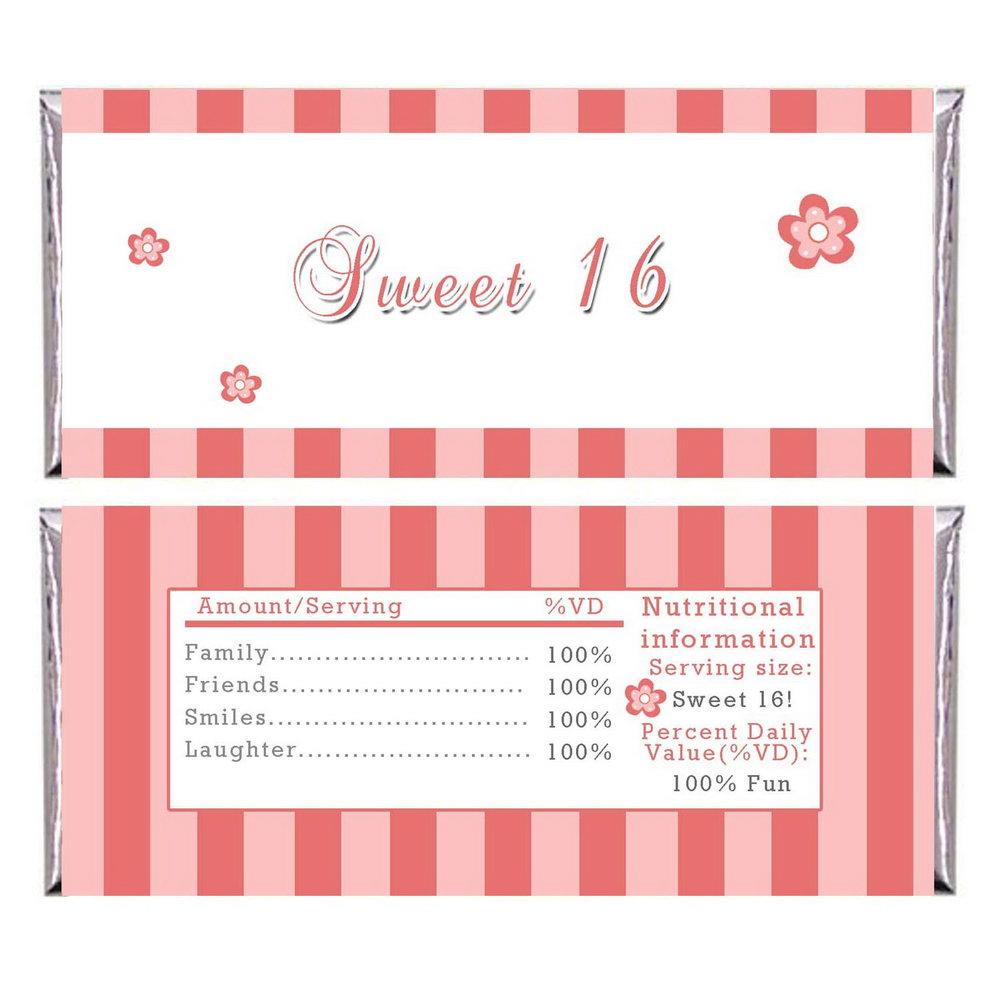 Blank Sweet 16 Invitation Templates