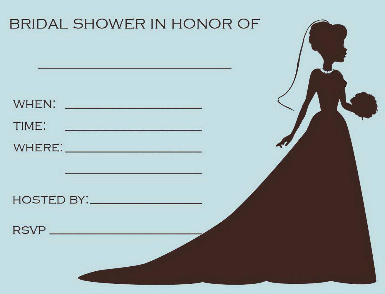 Bridal Shower Invite Template Free
