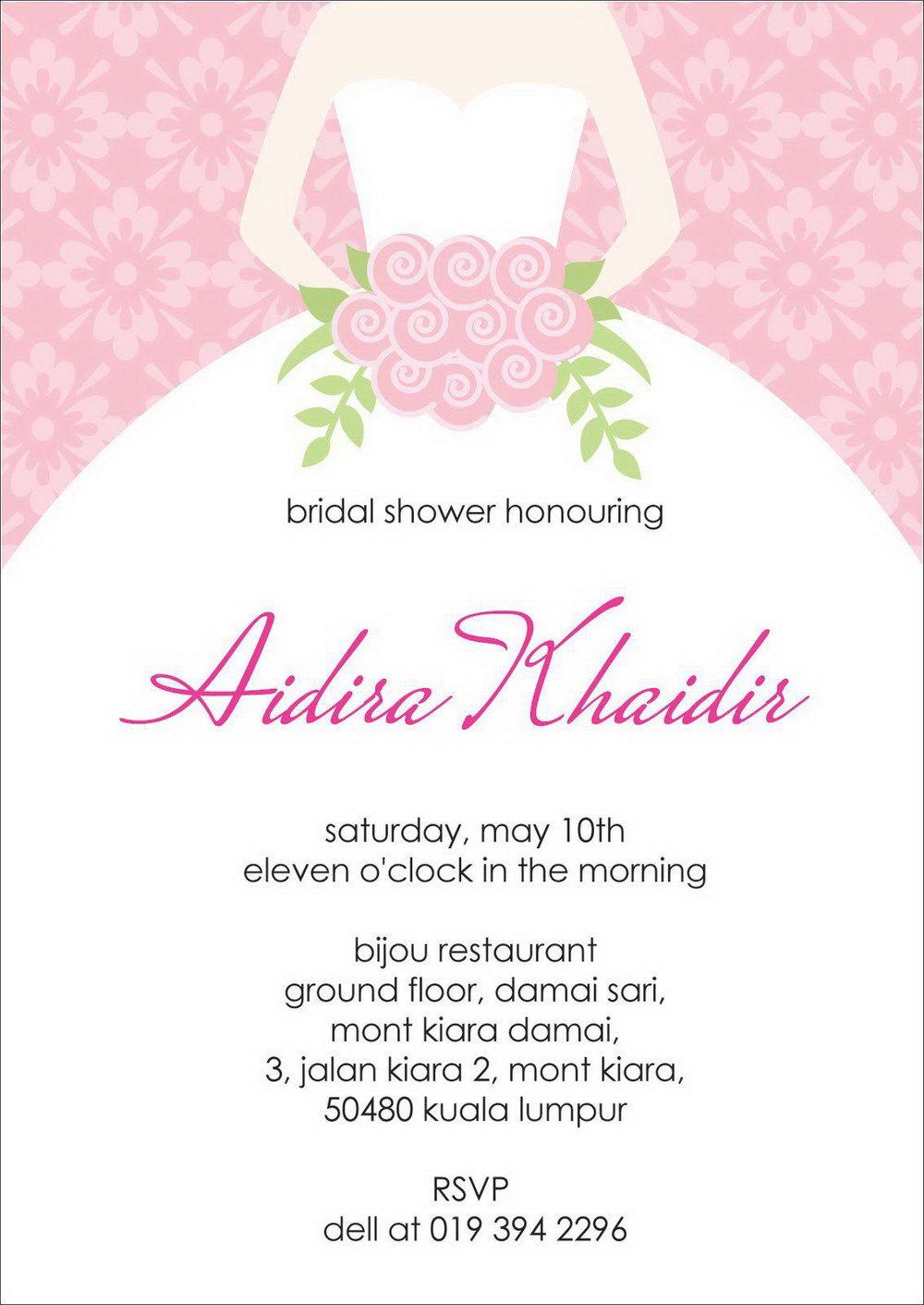 Bridal Shower Invite Template Online