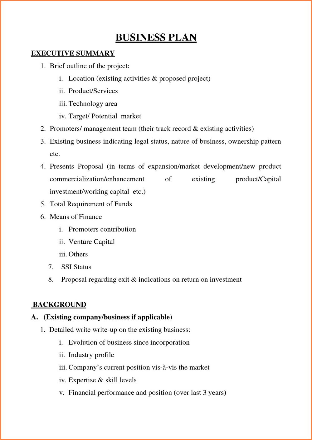 Business Plan Template Sba Pdf