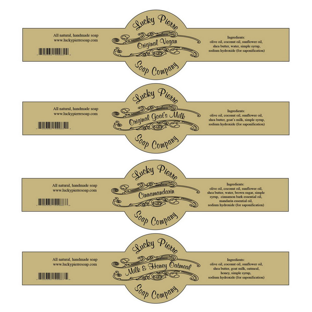 Cigar Band Soap Label Template