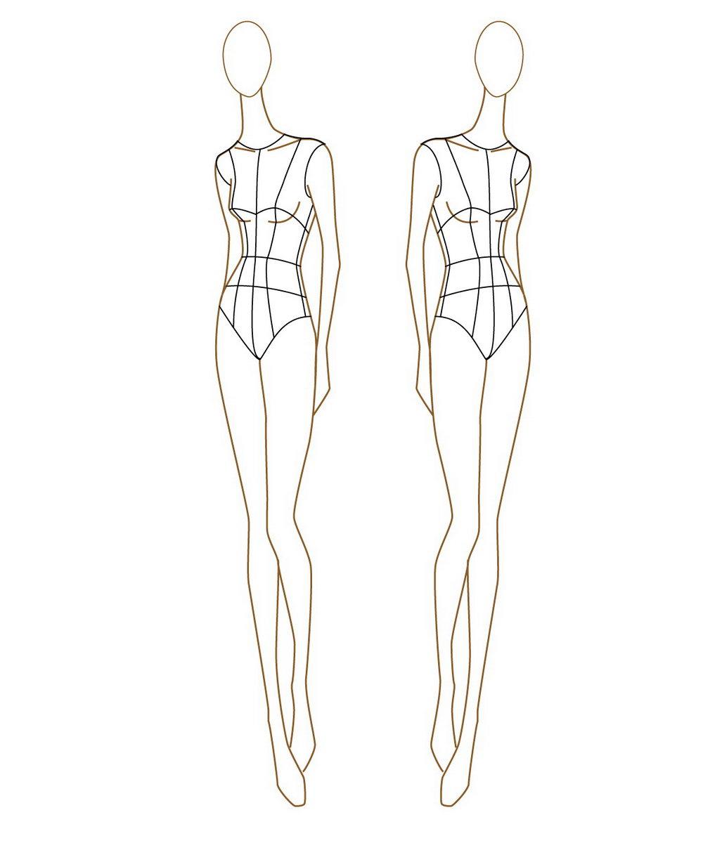 Clothing Design Sketch Templates