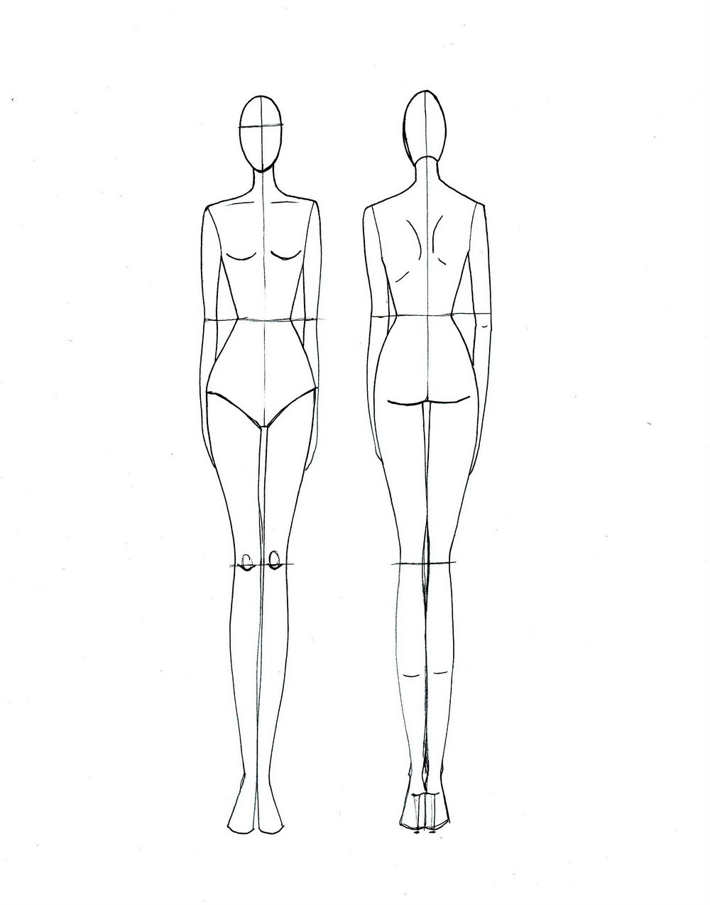 Clothing Sketch Templates