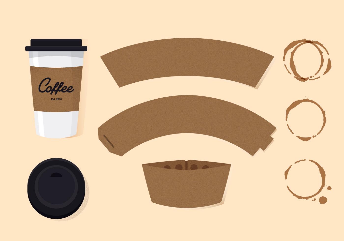 Coffee Cup Sleeve Template