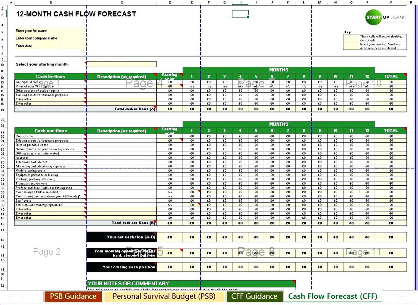 Daily Cash Flow Forecast Template Excel