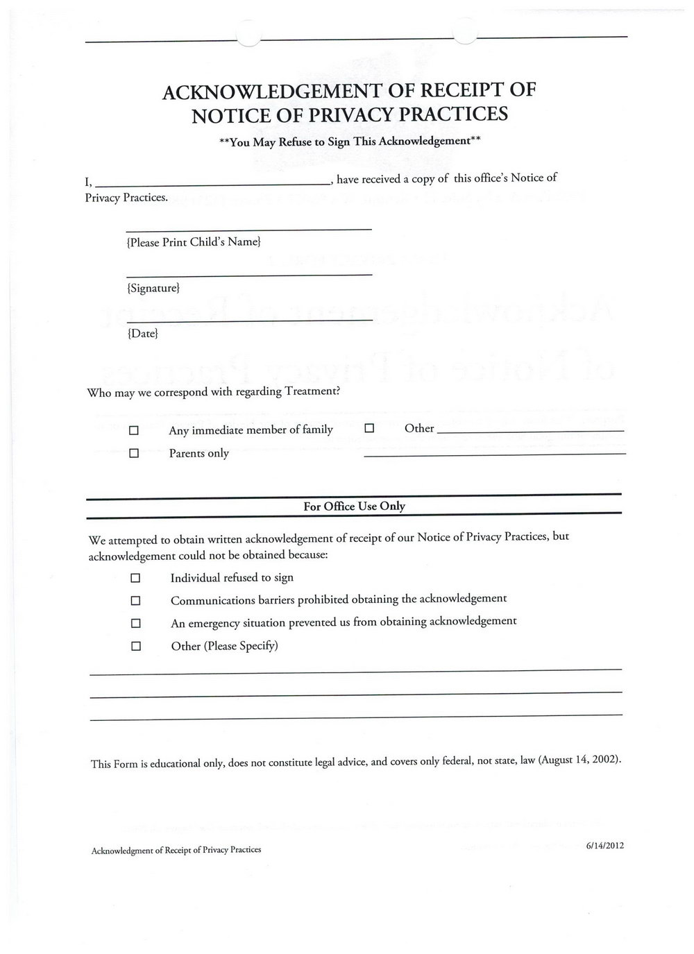 Dental Financial Agreement Template