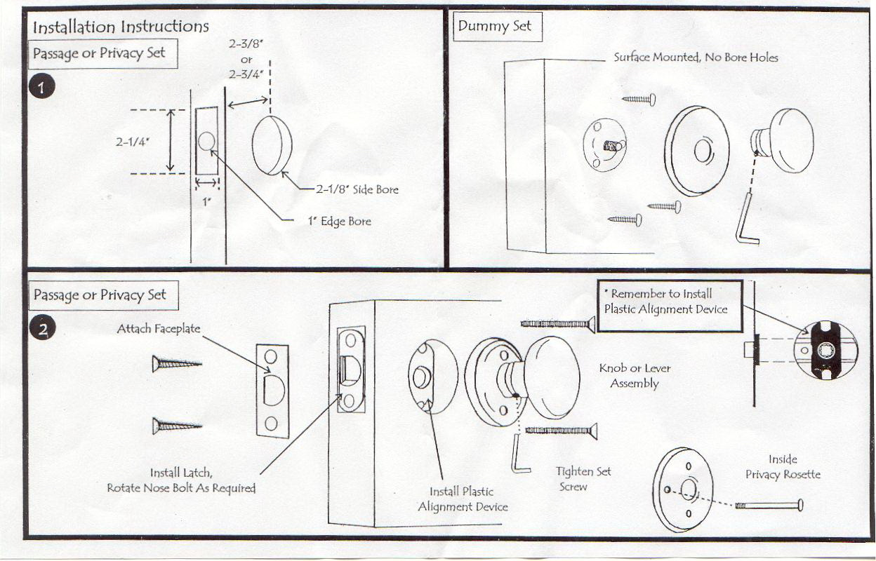 Door Knob Installation Template