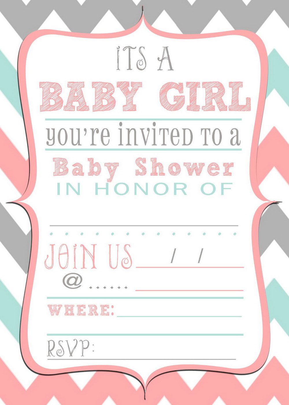 Editable Free Baby Shower Invitations Templates Pdf