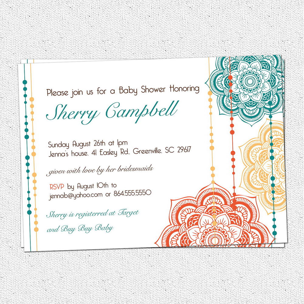 Elegant Baby Shower Invitation Templates