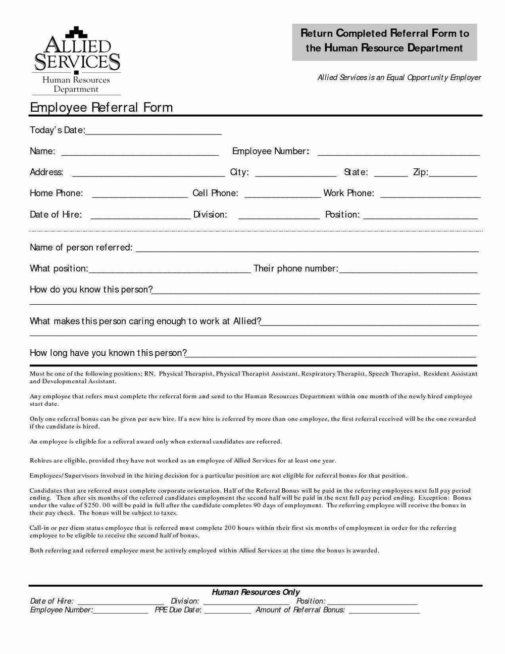 Employee Referral Program Email Template