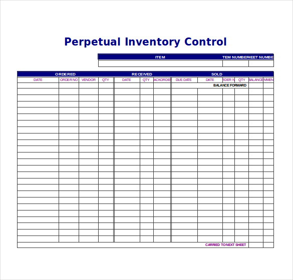 Excel Inventory Templates Free Download