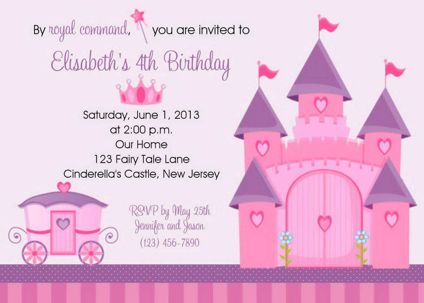 Fairy Princess Invitation Template
