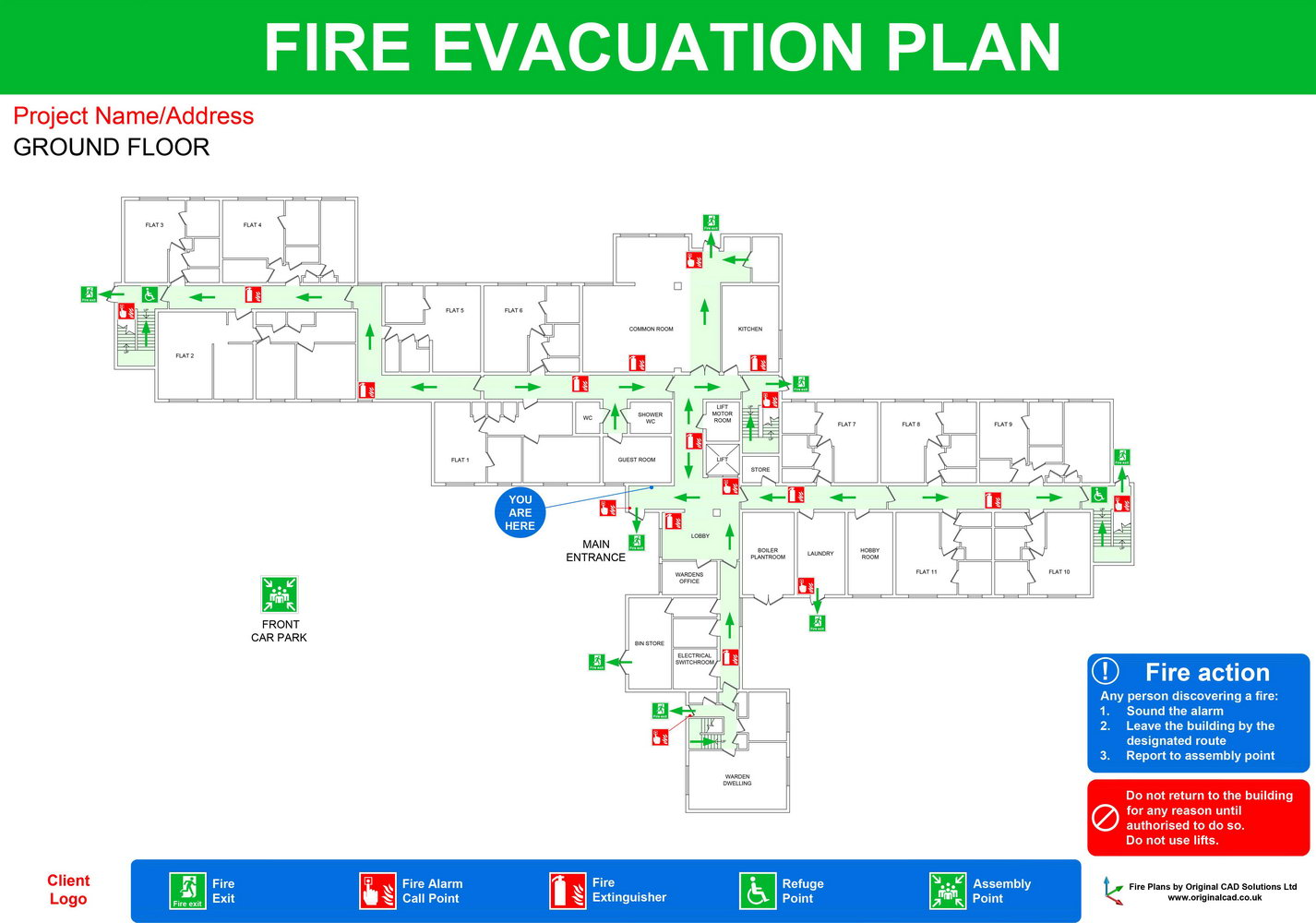 Fire Evacuation Plan Template For Home