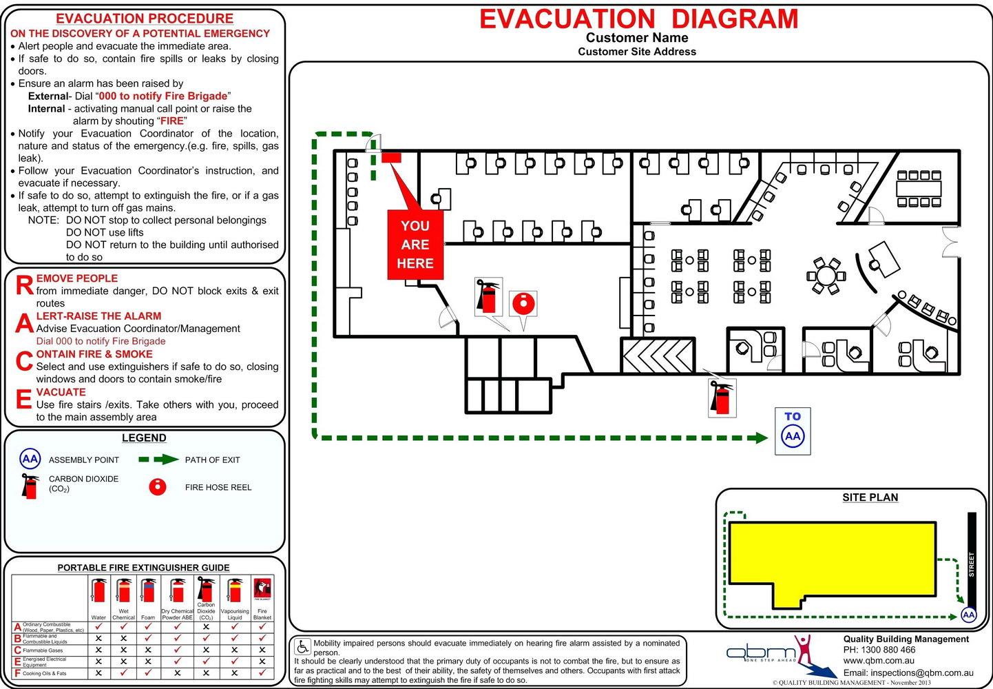 Fire Evacuation Plan Template Victoria