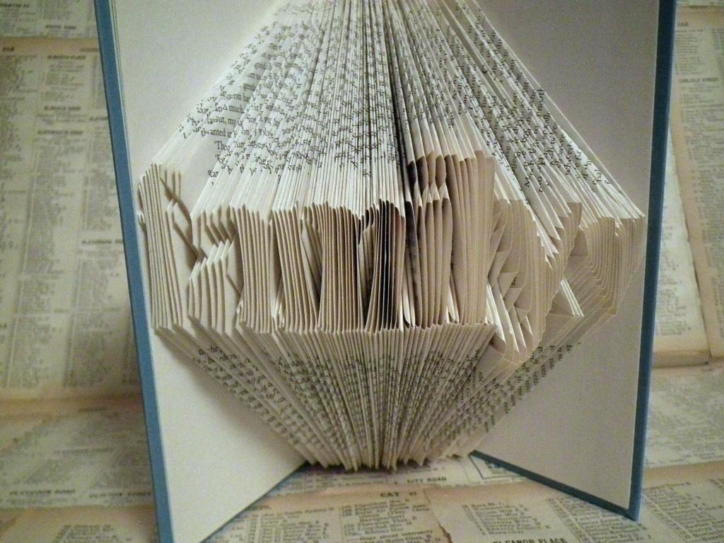 Folded Book Art Templates Free