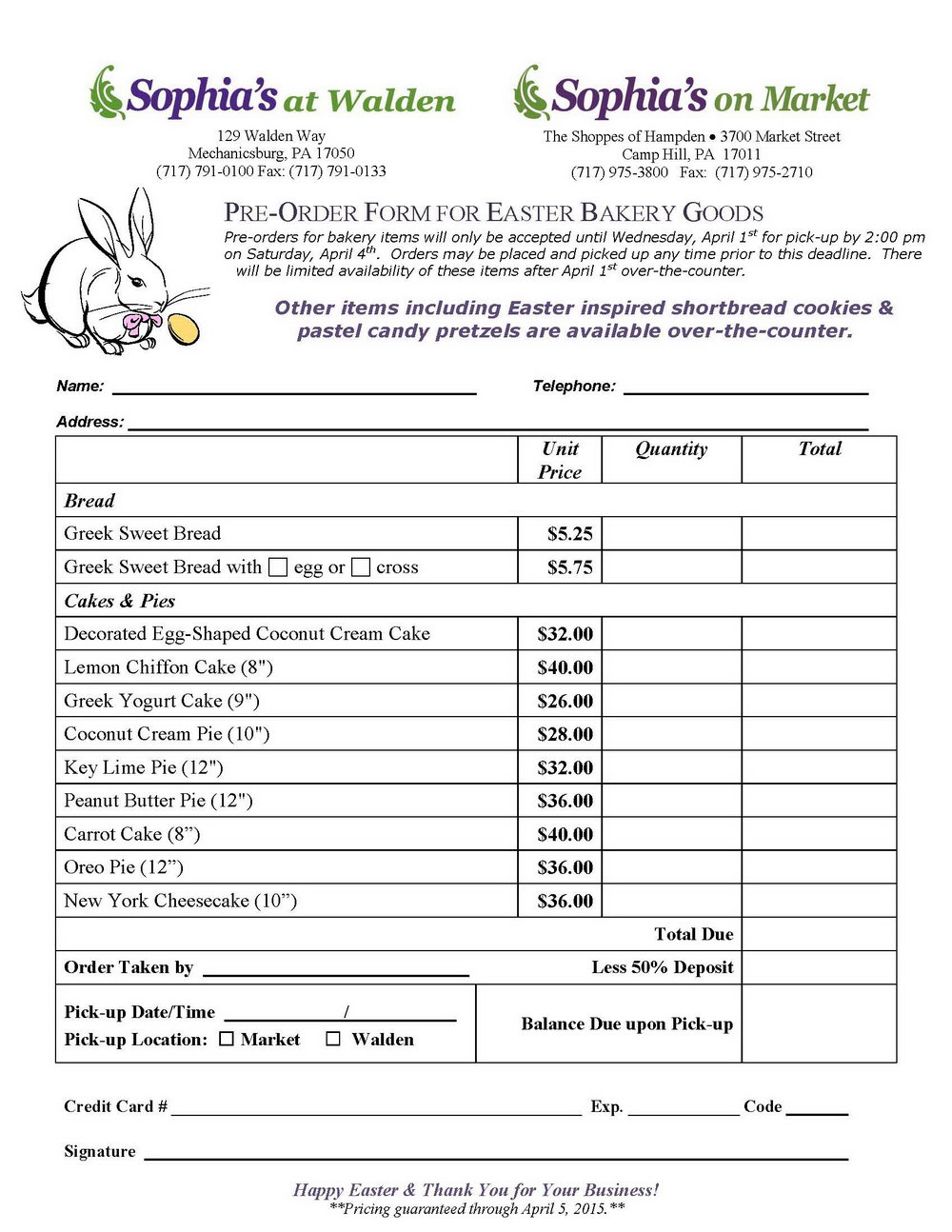 Food Catering Invoice Template