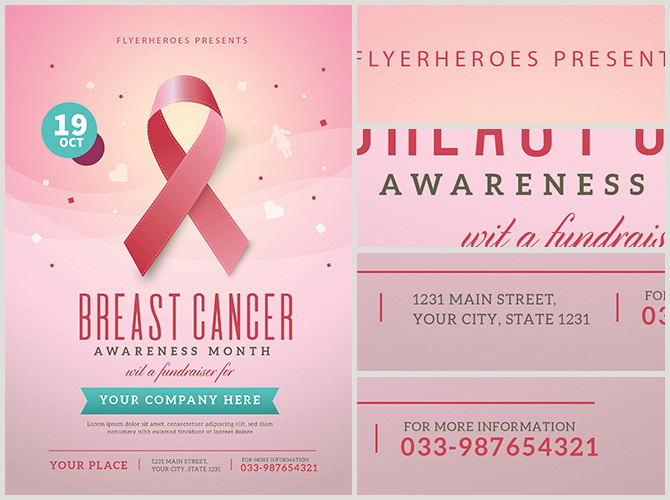 Free Breast Cancer Benefit Flyer Template