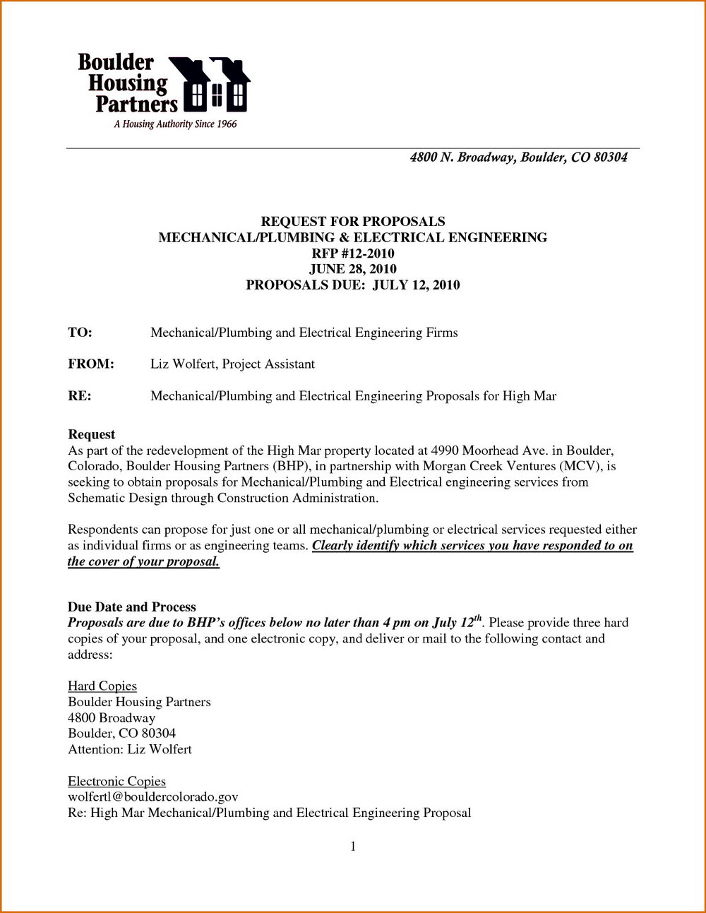 Free Construction Proposal Template Pdf