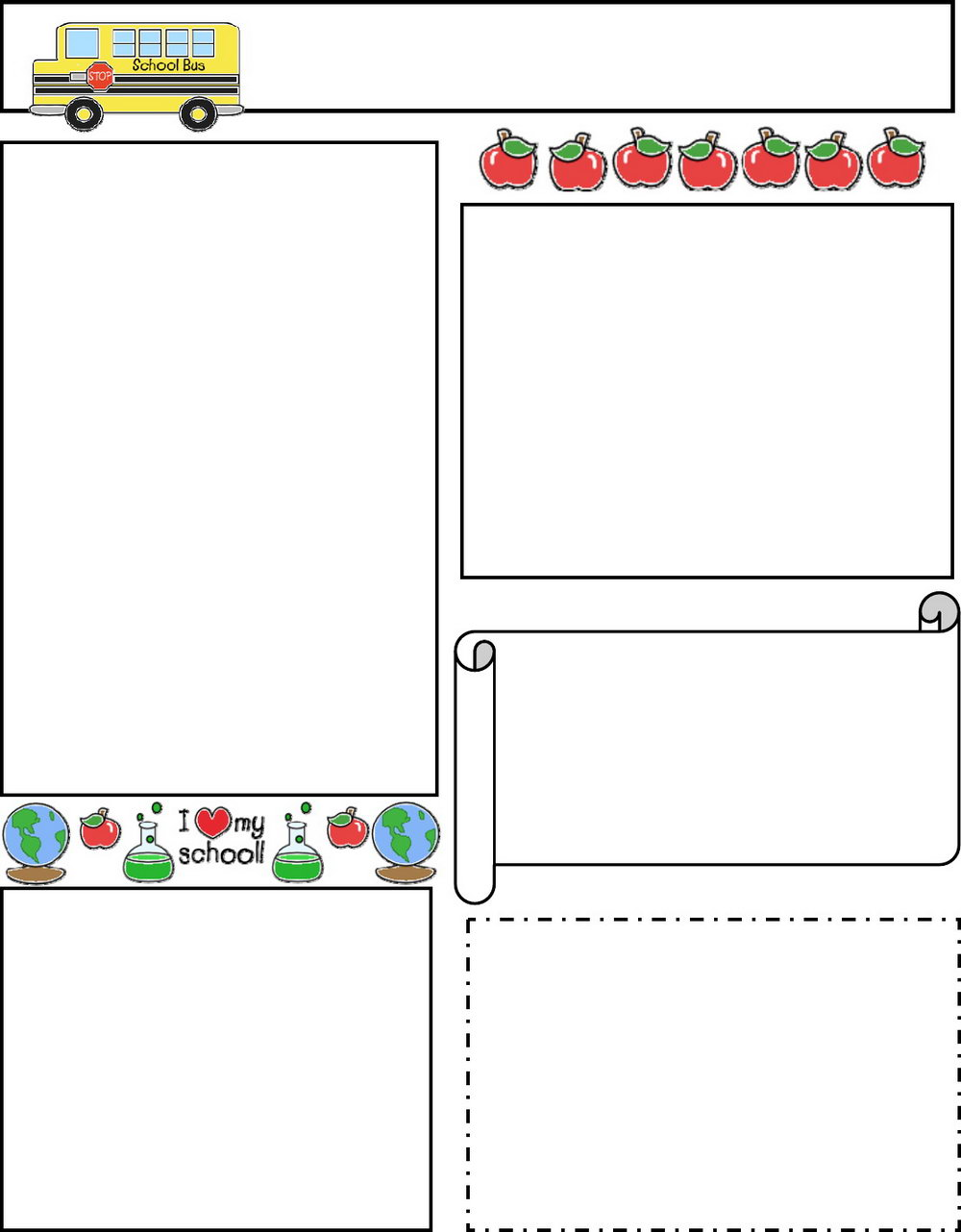 Free Editable Classroom Newsletter Templates