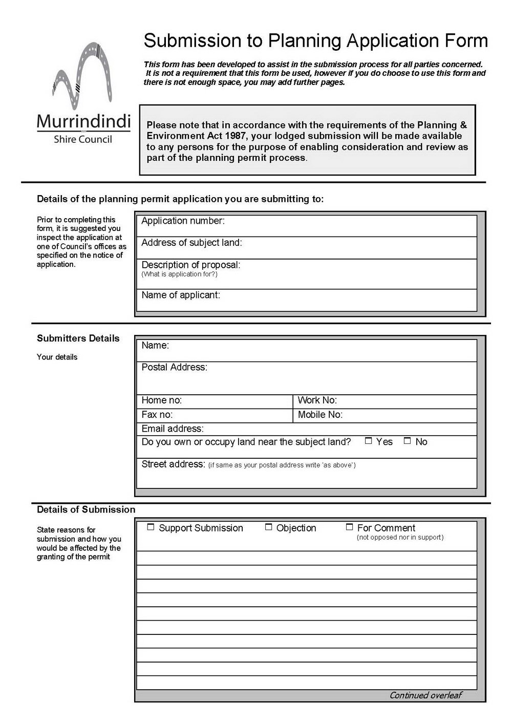 Free Parking Permit Template Word