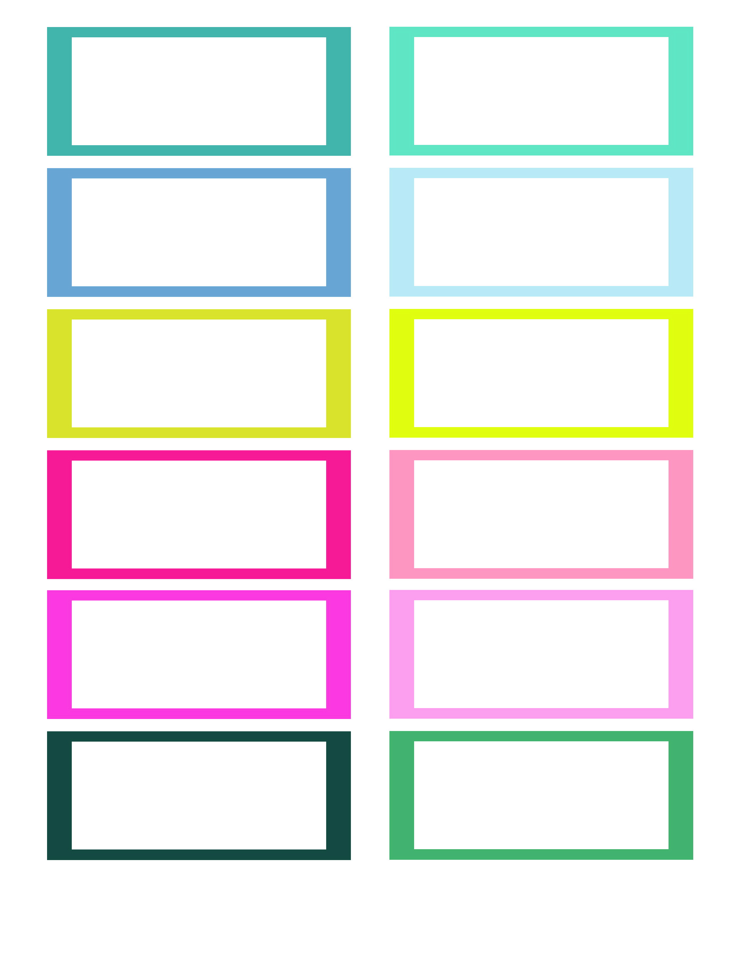 Free Printable Blank Label Templates