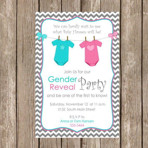 Free Printable Gender Reveal Invitation Templates